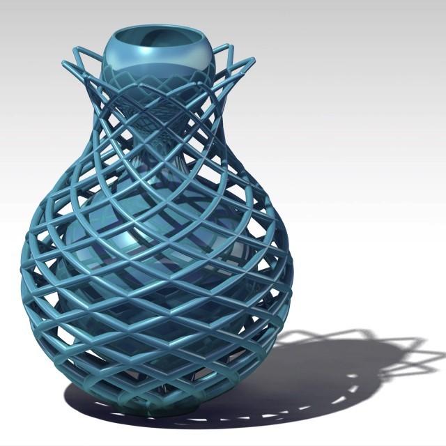 vase_losange.jpg Download STL file diamond vase • 3D print object, jp-design