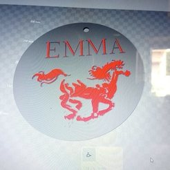 STL horse key ring Emma, steph86160
