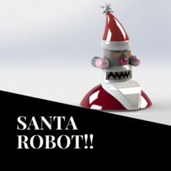Download free STL files Santa Robot, sketchprint3d
