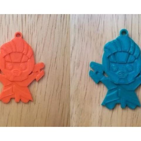 Diseño sin título (3).jpg Download free STL file Star Lord Key Chain • 3D printing design, sketchprint3d