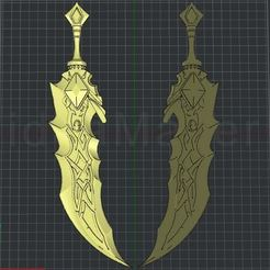 Ekran Alıntısı.JPG Download STL file Tryndamere Sword | League of Legends • 3D printer object, 3dmodelsturkey
