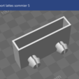 Download free 3D model Slat support for bed frame, jujulm72130