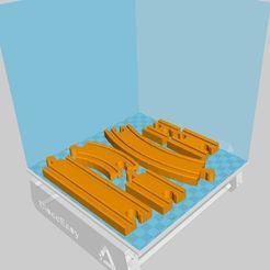 Lot.JPG Download free STL file Wooden train track Lidl - Ikea - etc... • 3D print template, luckies