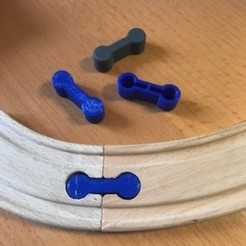 Download free STL file Fastener for the rails of the wooden Lidl train • Model to 3D print, luckies