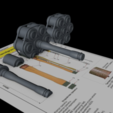 Free 3D printer files stielhandgranate 24, nabb