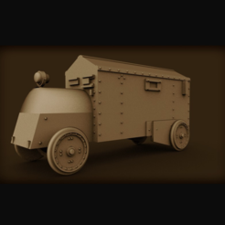 Download free 3D print files Mexican Revolution Armored Car, nabb