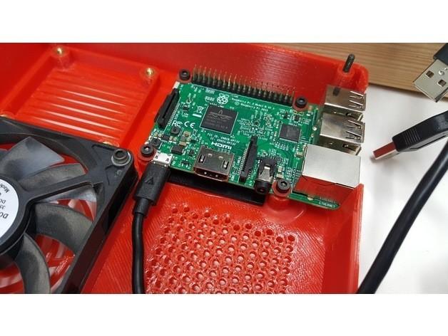 16c4f9ac18a0dfd22533d83d8b5bf48a_preview_featured.jpg Download free STL file TAZ 5 Raspberry Pi 2 / 3 Main Box Extension • 3D print template, crprinting