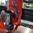 Free 3D printer designs TAZ5 E3D Titan Mount Remixed with stronger back and heat insert holes, crprinting