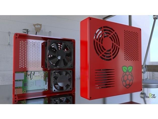 b3d55ab7eeb49800f7dc866045fac611_preview_featured.jpg Download free STL file TAZ 5 Raspberry Pi 2 / 3 Main Box Extension • 3D print template, crprinting