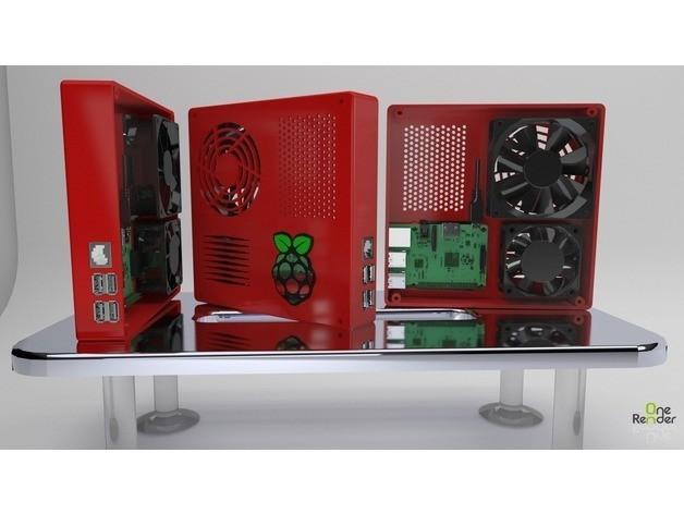f0edfecb03057c51b2cb1e84b6c2771d_preview_featured.jpg Download free STL file TAZ 5 Raspberry Pi 2 / 3 Main Box Extension • 3D print template, crprinting