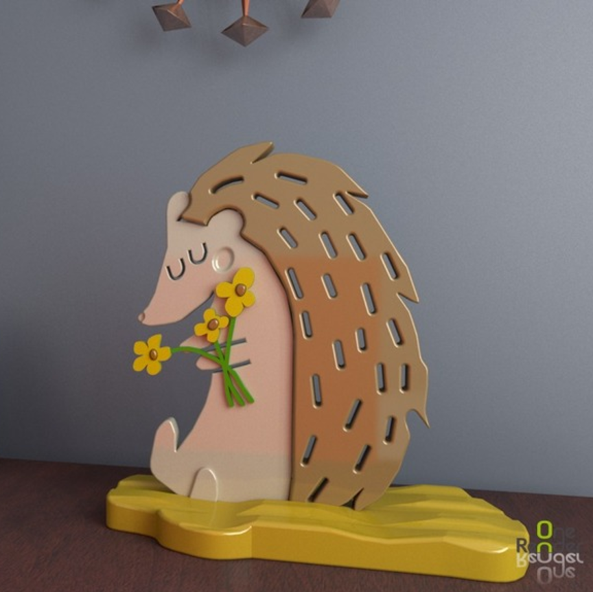 Capture d'écran 2017-04-26 à 14.27.15.png Download free STL file Hedgehog 3D • 3D printer design, crprinting