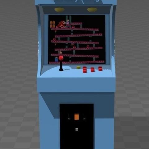 a10f79b4f79c6526c71475de6234f84a_preview_featured.jpg Télécharger fichier STL gratuit donkey kong arcade • Plan pour imprimante 3D, tyh