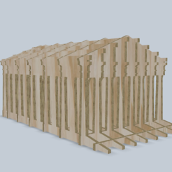 Download free 3D printer templates Greek temple puzzle, tyh