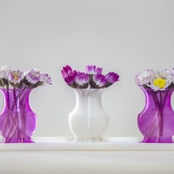 Download free 3D printing models Mini Vases and Tray, 1sPiRe