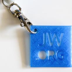 Impresiones 3D gratis Jw.org Llavero Personalizado, Robh