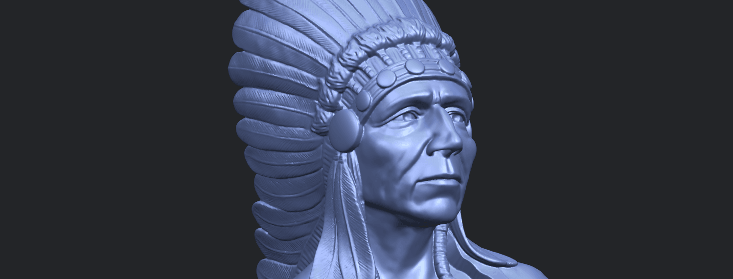 09_TDA0489_Red_Indian_03_BustA10.png Download free STL file Red Indian 03 • 3D printer model, GeorgesNikkei