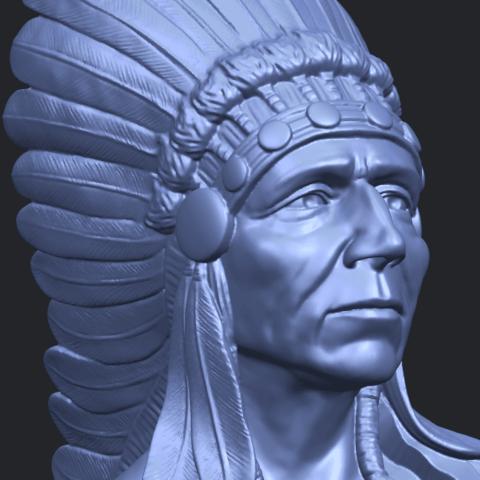 09_TDA0489_Red_Indian_03_BustA10.png Télécharger fichier STL gratuit Rouge Indien 03 • Objet pour impression 3D, GeorgesNikkei