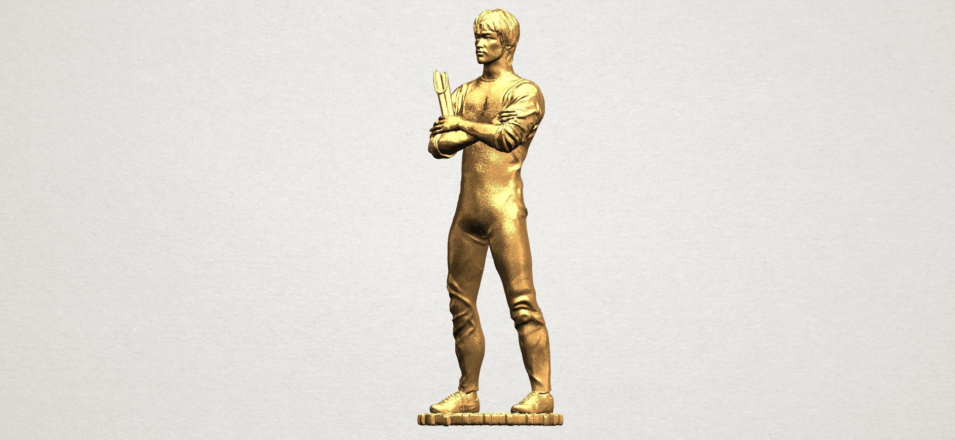 Bruce Lee A02.png Télécharger fichier STL gratuit Bruce Lee • Design à imprimer en 3D, GeorgesNikkei