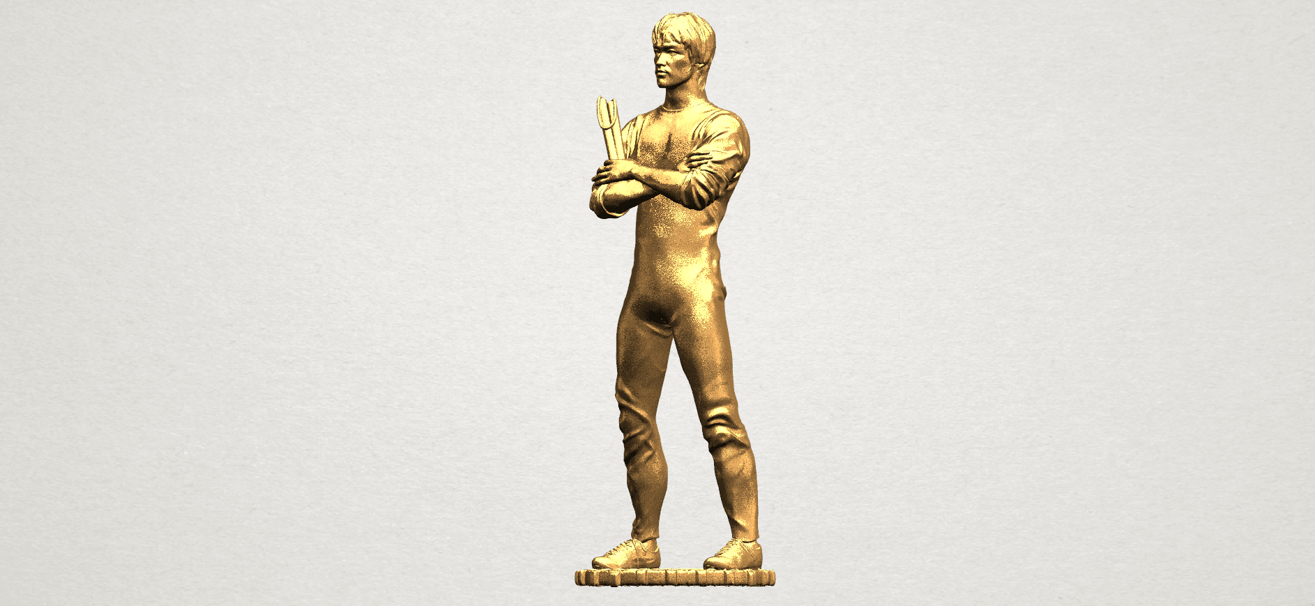 Bruce Lee A02.png Download free STL file Bruce Lee • 3D printing design, GeorgesNikkei