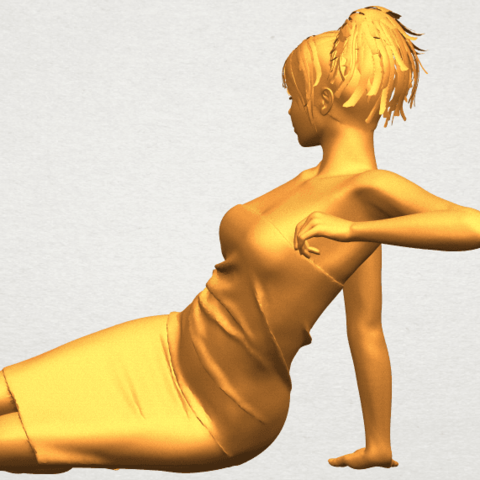 A04.png Download free STL file Naked Girl F05 • 3D printer object, GeorgesNikkei