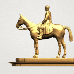 Free 3D printer files Horse with Rider 01, GeorgesNikkei