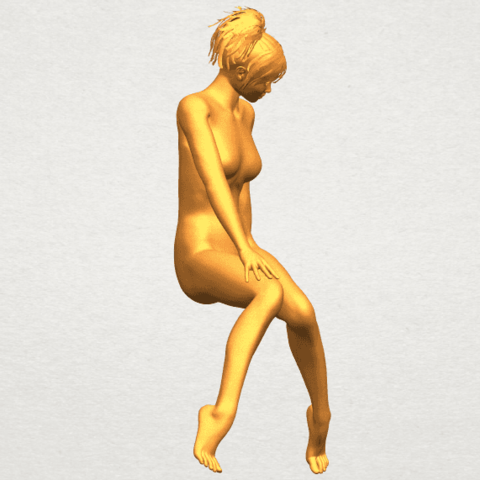 A10.png Download free STL file Naked Girl E01 • 3D printer template, GeorgesNikkei