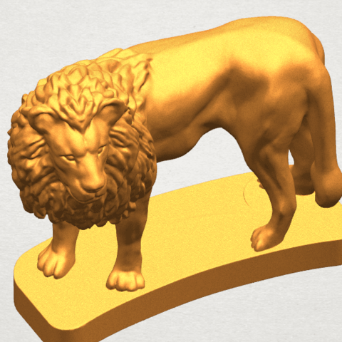 TDA0313 Lion (iii) A08.png Download free STL file Lion 03 • 3D printable template, GeorgesNikkei