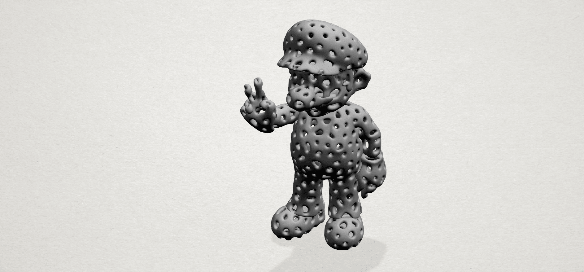 Mario-A05.png Download free STL file Voronoi Mario • Model to 3D print, GeorgesNikkei
