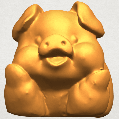 A09.png Download free STL file Pig 01 • 3D printing object, GeorgesNikkei