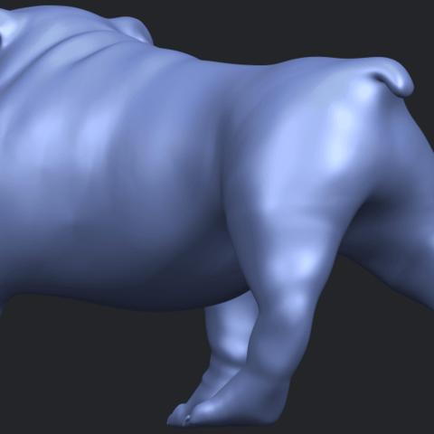 14_TDA0520_Bull_Dog_01B05.png Télécharger fichier STL gratuit Chien de taureau 01 • Plan pour impression 3D, GeorgesNikkei