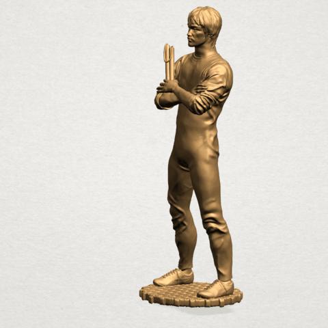 Bruce Lee B02.png Download free STL file Bruce Lee • 3D printing design, GeorgesNikkei