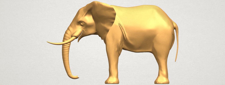 TDA0592 Elephant 07 A01.png Télécharger fichier STL gratuit Eléphant 07 • Objet à imprimer en 3D, GeorgesNikkei