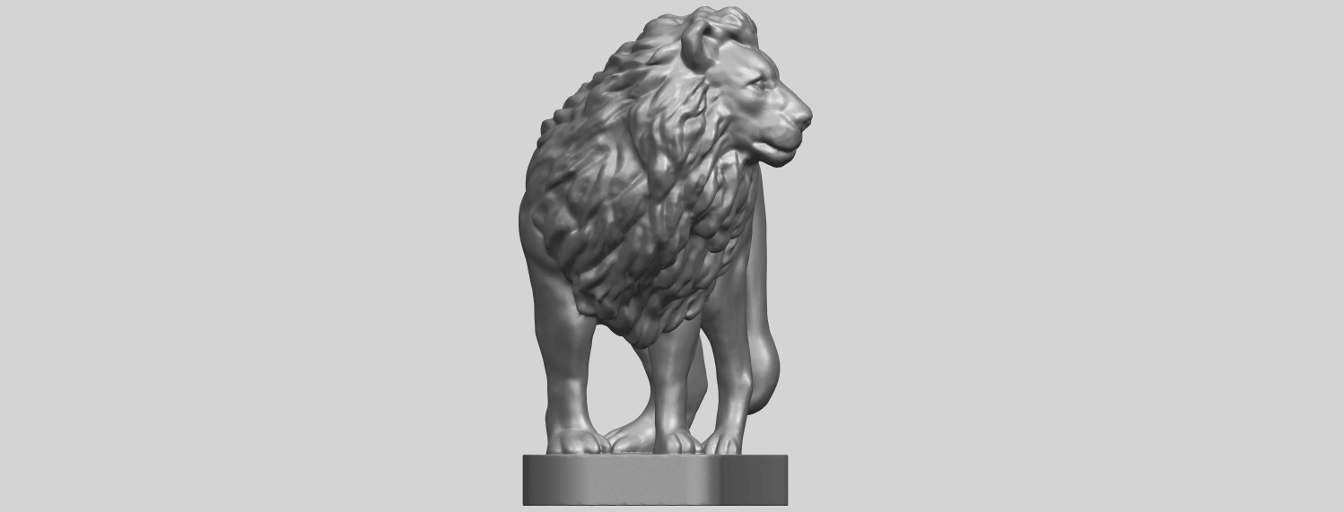 02_TDA0313_Lion_(iii)A09.png Download free STL file Lion 03 • 3D printable template, GeorgesNikkei