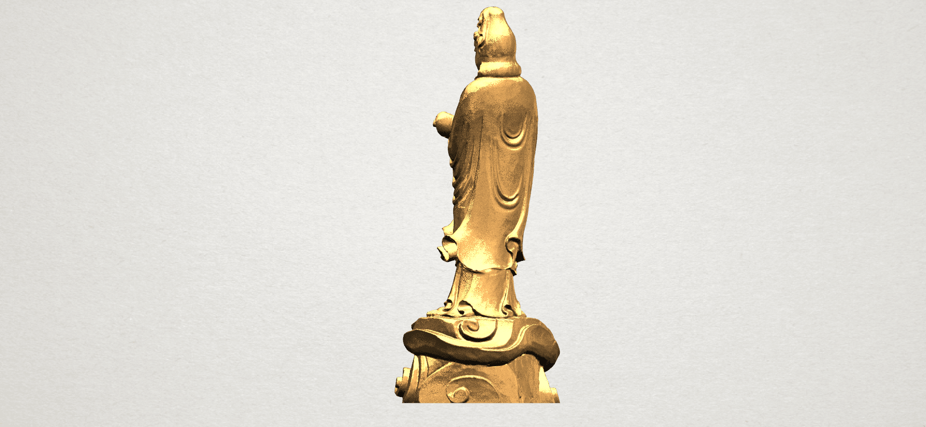 Avalokitesvara Buddha - Standing (iv) A04.png Download free STL file Avalokitesvara Buddha - Standing 04 • 3D print template, GeorgesNikkei