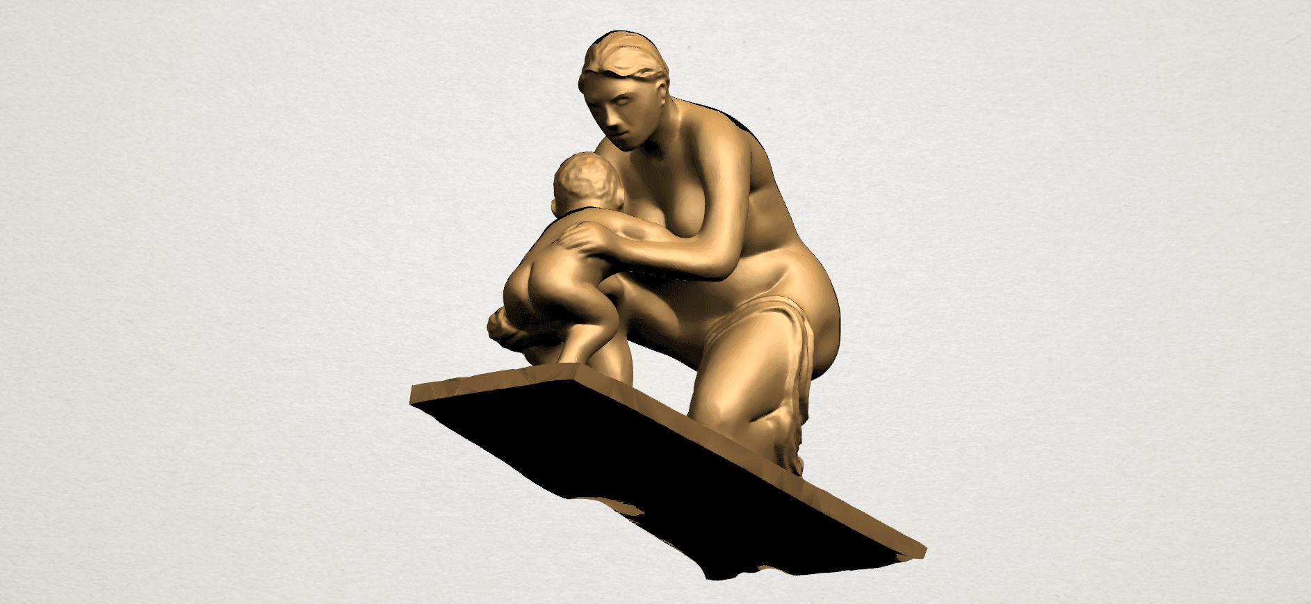Mother-Child (iv) A07.png Download free STL file Mother and Child 04 • 3D print template, GeorgesNikkei