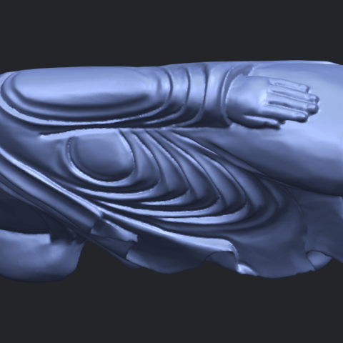 16_TDA0180_Sleeping_Buddha_(ii)_88mmB02.png Download free STL file Sleeping Buddha 02 • Design to 3D print, GeorgesNikkei