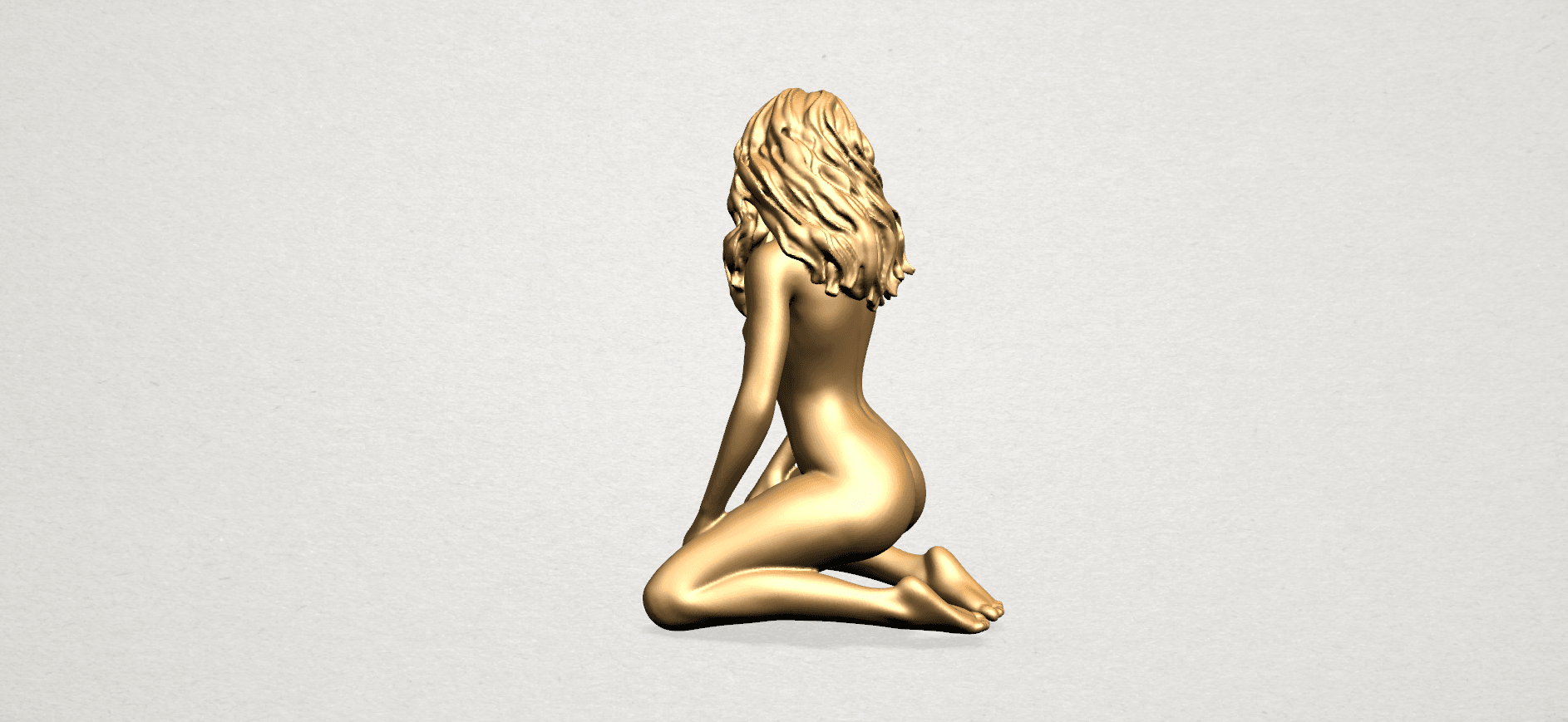 Naked girl - bended knees (II)-B03.png Download free STL file Naked girl - Bended Knees 02 -TOP MODEL • 3D printing object, GeorgesNikkei