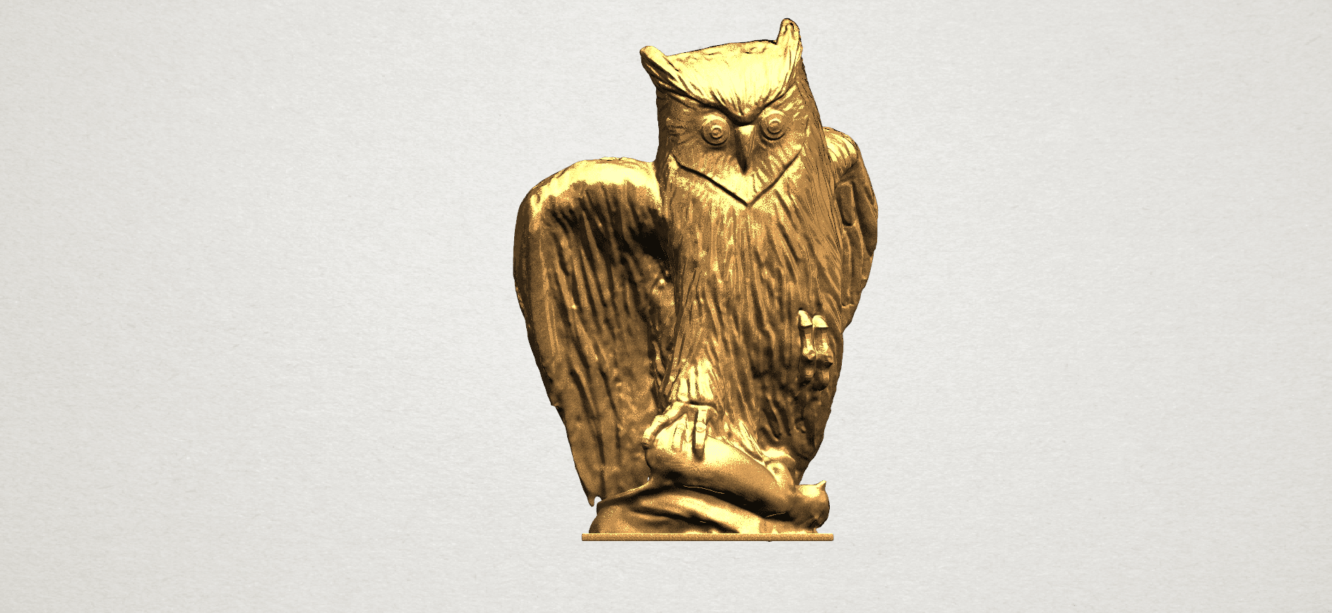 Owl (ii) A01.png Download free STL file Owl 02 • 3D printer object, GeorgesNikkei