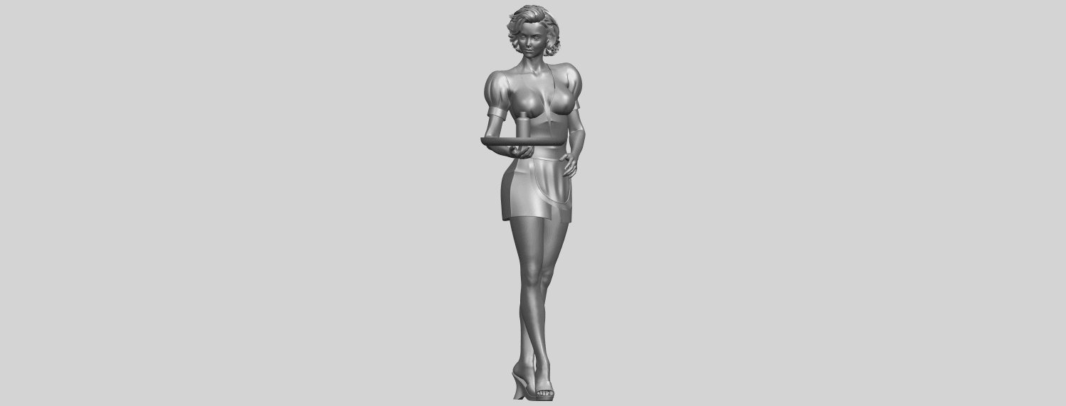 07_TDA0475_Beautiful_Girl_09_WaitressA01.png Download free STL file Beautiful Girl 09 Waitress • 3D printable object, GeorgesNikkei