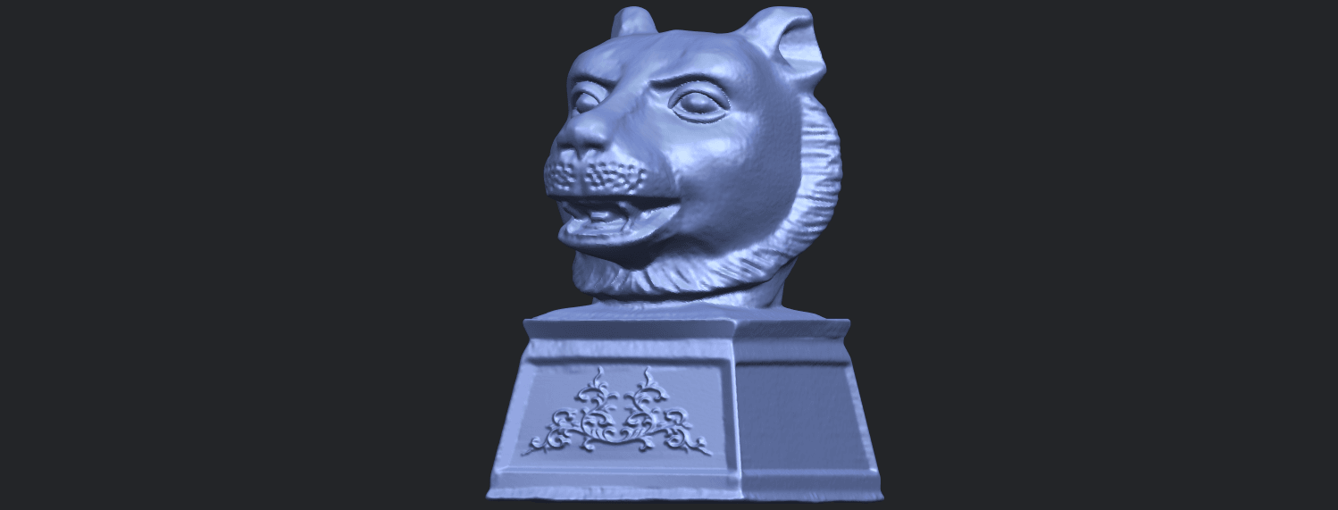 15_TDA0510_Chinese_Horoscope_of_Tiger_02B02.png Download free STL file Chinese Horoscope of Tiger 02 • 3D print object, GeorgesNikkei