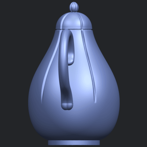 19_TDA0323_Tea_Pot_iiB04.png Download free STL file Tea Pot 02 • 3D printer template, GeorgesNikkei