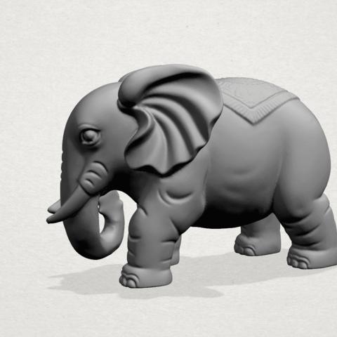Elephant 03-A01.png Télécharger fichier STL gratuit Éléphant 03 • Modèle imprimable en 3D, GeorgesNikkei