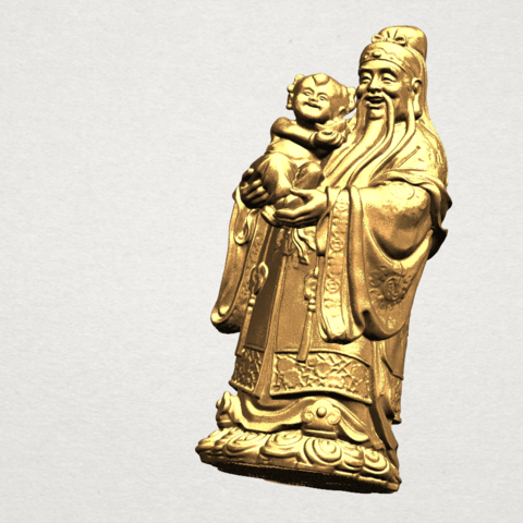 Fook (Fook Look Sao) 80mm - B08.png Download free STL file Fook (Fook Look Sao) • 3D printer template, GeorgesNikkei