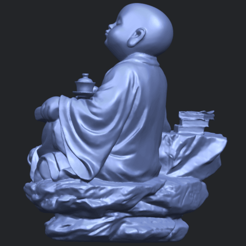 17_TDA0558_Little_Monk_Drink_TeaB05.png Télécharger fichier STL gratuit Boire du thé Little Monk Drink Tea • Design à imprimer en 3D, GeorgesNikkei