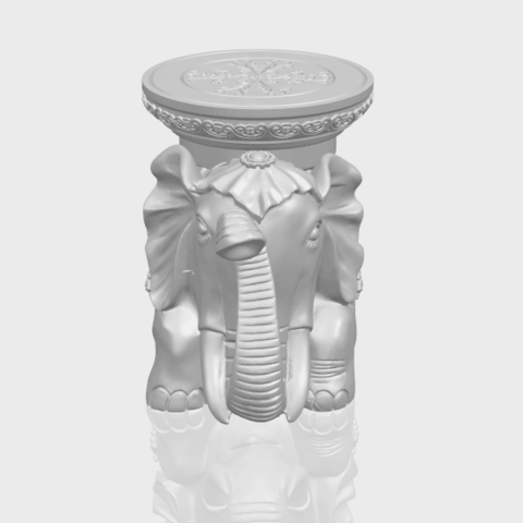 11_TDA0501_Elephant_TableA00-1.png Download free STL file Elephant Table • 3D printing object, GeorgesNikkei