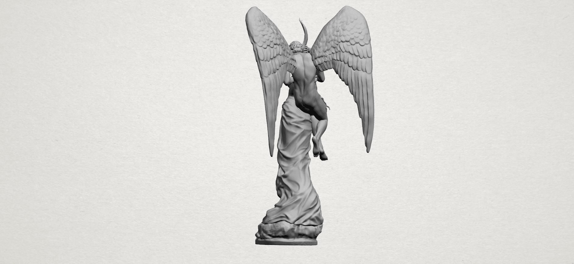 Angel and devil - A08.png Download free 3DS file Angel and devil • 3D print template, GeorgesNikkei
