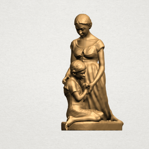 Mother-Child (ii) A08.png Download free STL file Mother and Child 02 • 3D printable design, GeorgesNikkei
