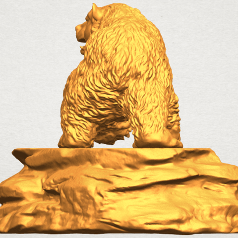 A03.png Télécharger fichier STL gratuit Ours 01 • Plan imprimable en 3D, GeorgesNikkei