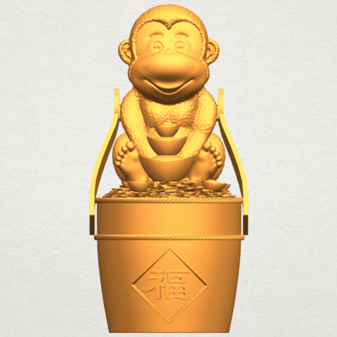 A01.png Download free STL file Monkey A05 • 3D print design, GeorgesNikkei