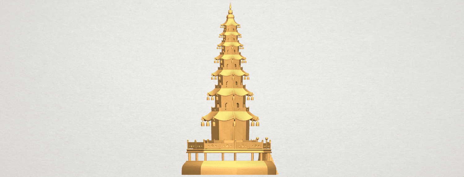 TDA0623 Chiness pagoda A05.png Download free STL file Chiness pagoda • Design to 3D print, GeorgesNikkei